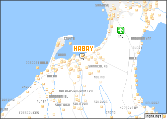 map of Habay