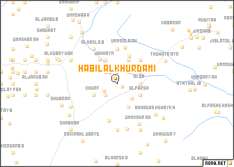 map of Ḩabīl al Khurdamī
