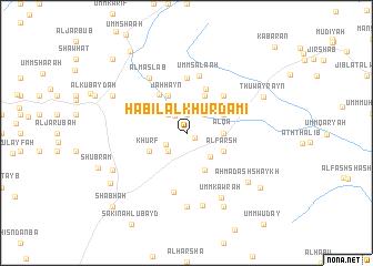 map of Ḩabīl al Khurdamī