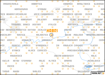 map of Habří