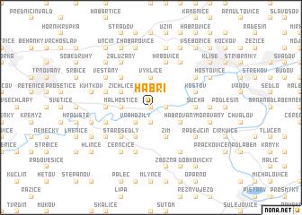 map of Habří