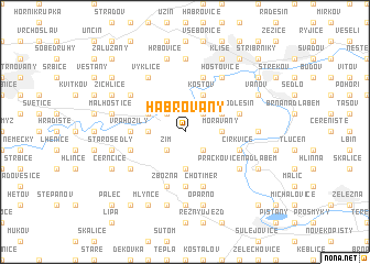 map of Habrovany