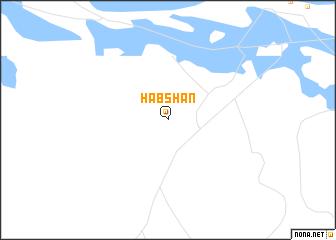 map of Ḩabshān