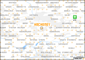 map of Hacheney