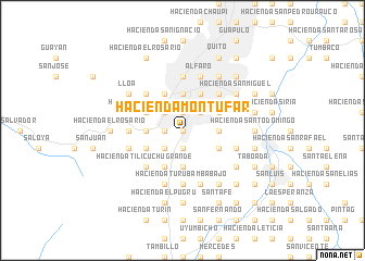 map of Hacienda Montúfar
