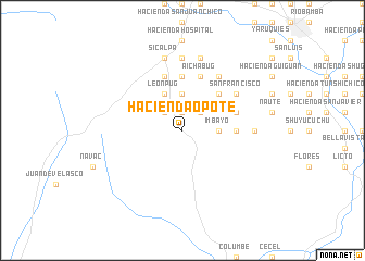 map of Hacienda Opote