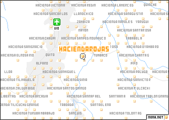 map of Hacienda Rojas