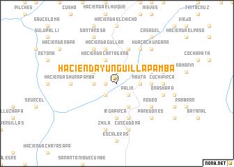 map of Hacienda Yunguillapamba