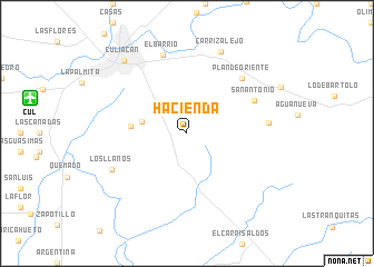 map of Hacienda