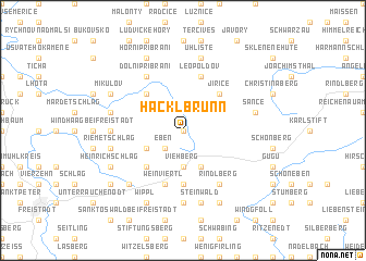 map of Hacklbrunn