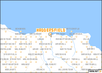 map of Haddersfield