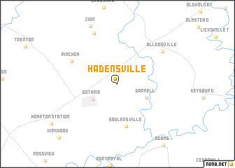 map of Hadensville