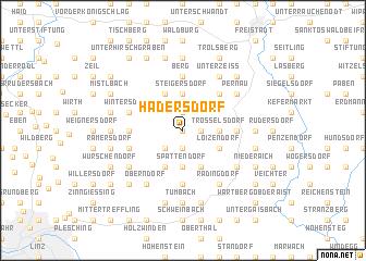 map of Hadersdorf