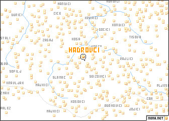 map of Hadrovci