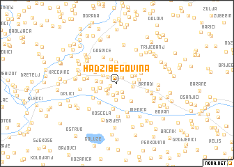 map of Hadžibegovina