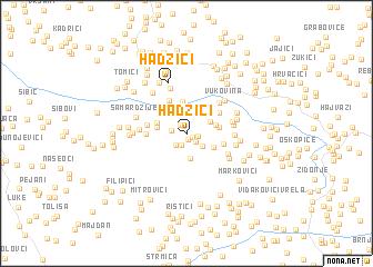 map of Hadžići