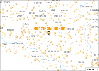 map of Hadžikadijin Han