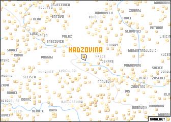 map of Hadžovina