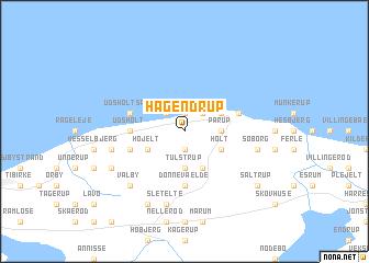 map of Hågendrup