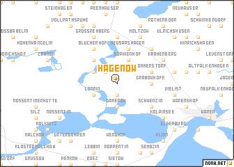 map of Hagenow