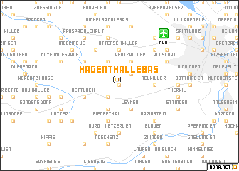 map of Hagenthal-le-Bas