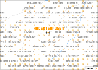 map of Hagertshausen