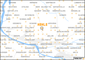 map of Hahle