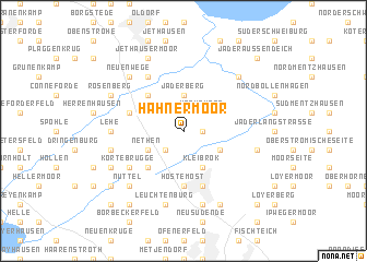 map of Hahnermoor