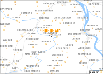 map of Hahnheim