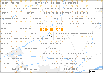 map of Haimhausen