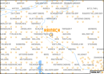 map of Hainach