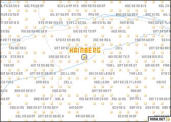 map of Hainberg