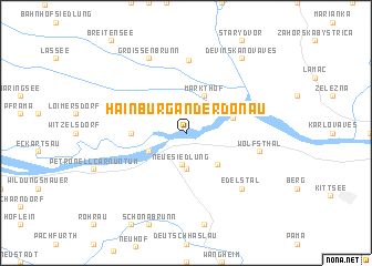 map of Hainburg an der Donau