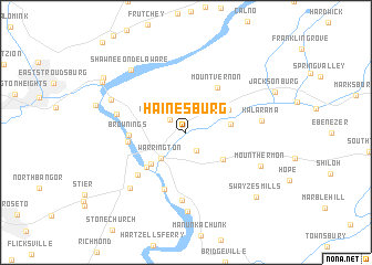 map of Hainesburg