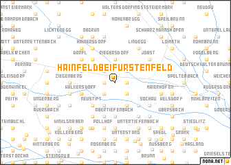 map of Hainfeld bei Fürstenfeld
