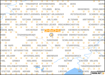 map of Hainham