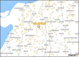 map of Hajāmūn