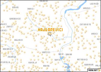 map of Hajdarevići