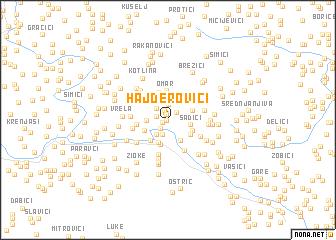 map of Hajderovići