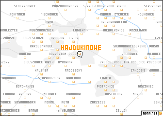 map of Hajduki Nowe