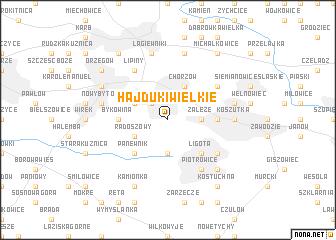 map of Hajduki Wielkie