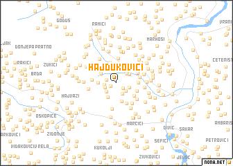map of Hajdukovići