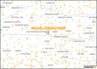 map of Hāji Ā li Nawāz Khān