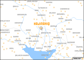 map of Hājī Nāmiq