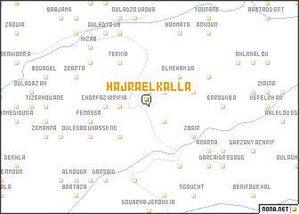 map of Hajra el Kalla
