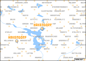 map of Hakendorf