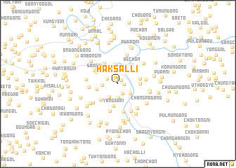 map of Haksal-li