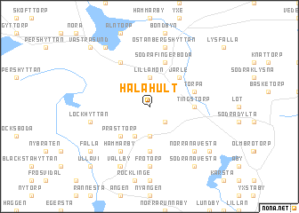 map of Hålahult