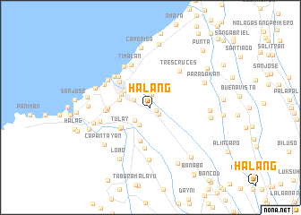 map of Halang