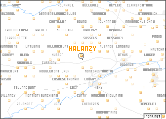 map of Halanzy